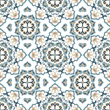 Seamless traditional shading background pattern 向量圖像
