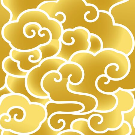 Seamless golden moire background shading