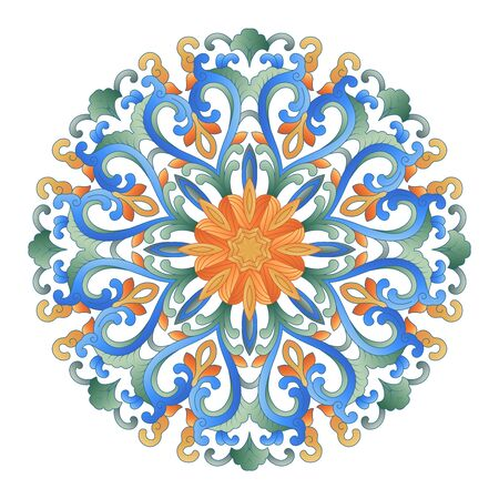 Color round art pattern