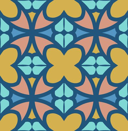 Continuous color collage pattern background wallpaper pattern