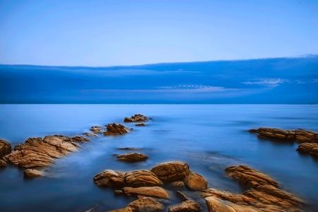 long: Long burst coast scenery