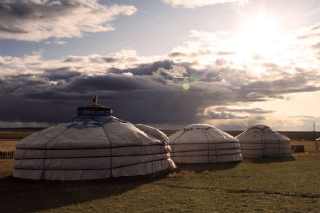 nomads: Yurt - Nomads tent is the national dwelling of Kazakhstan and Kirghizstan peoples  Stock Photo
