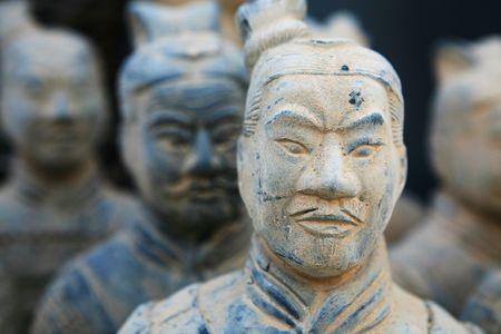 replica of a terracotta warrior sculpture found in Xian, China