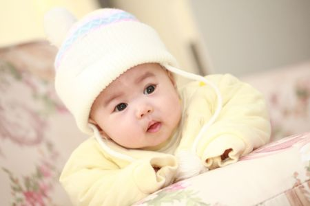 close up of cute asia baby Stock Photo - 12523333
