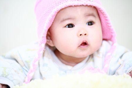 baby towel: cerca de lindo beb� asi�tico