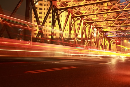 traffic conditions on Bridge in the city of Shanghai Stock Photo - 12591127