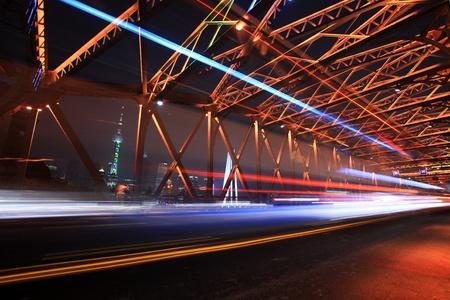traffic conditions on Bridge in the city of Shanghai Stock Photo - 12591163