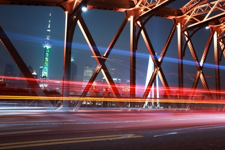 traffic conditions on Bridge in the city of Shanghai Stock Photo - 12591126