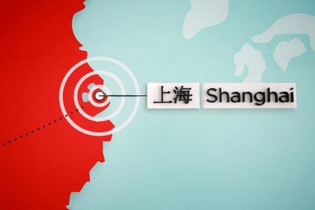 Chinese map: la ubicaci�n de Shanghai en el mapa chino