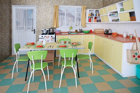 The internal structure of a European kitchen