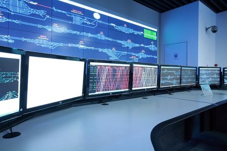 developed: Modern electronic technology inside the control room