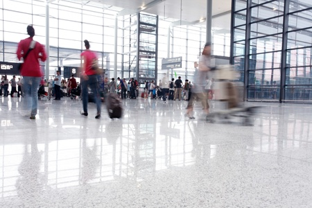 passenger in the interior of the airport