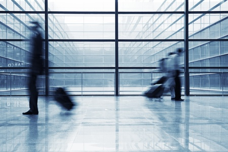 image of People silhouettes at morden office building  Stock Photo - 12591227