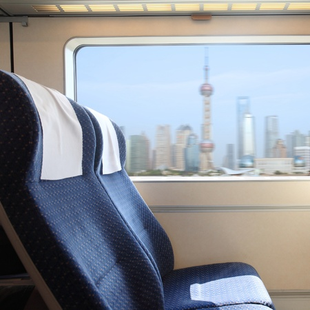Inside of Train which named CRH in china Stock Photo - 12590974