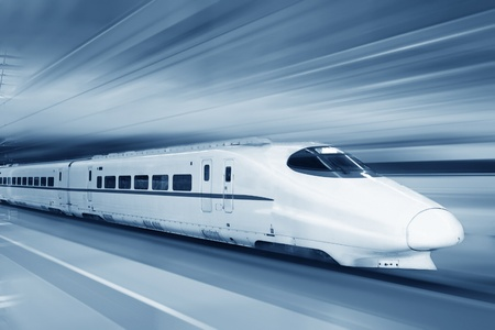 fast track: Fast train with motion blur