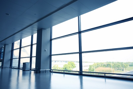 office interior with glass wall Stock Photo - 12591084