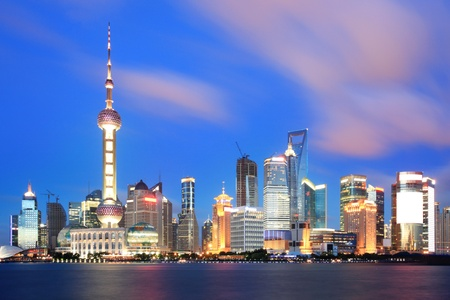 beautiful of shanghai night scene