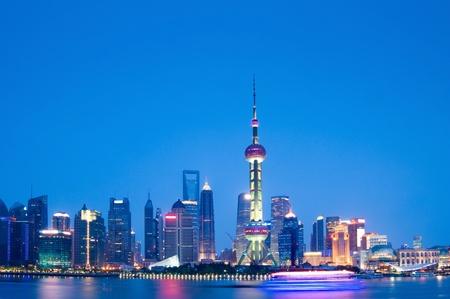 night scene of shanghai