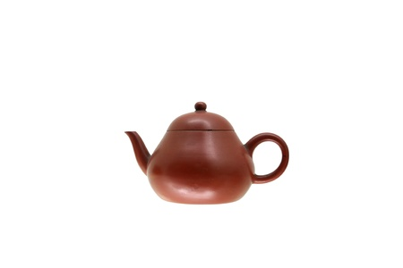 The chinese teapot on white background Stock Photo - 13263128