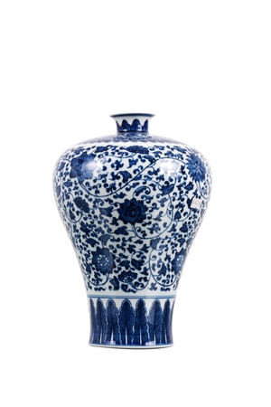 Asian Vase - Blue and White Porcelain photo