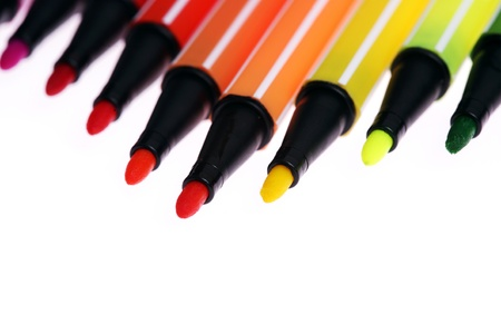 many colorful pens,background,closeup Stock Photo - 13310991