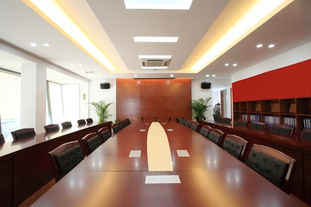 neat: the closeup of Modern city meeting room Editorial