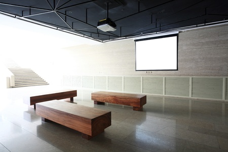 meeting room with Projection screen