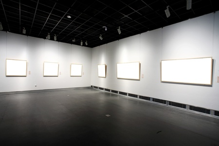 empty frames in a room against a white wall Stock Photo - 13418858
