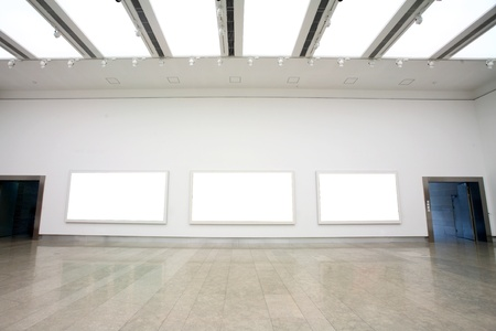 empty frames in a room against a white wall   Stock Photo - 13418585