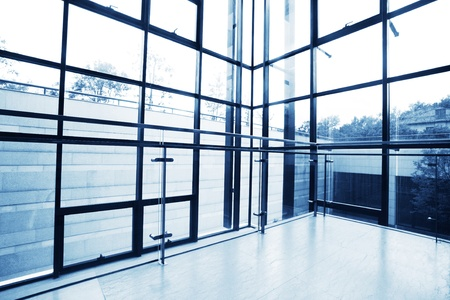Transparent windows of office building, may be used as background Stock Photo - 13450161