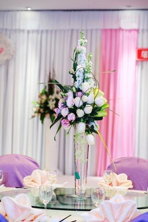 Wedding Flowers on the dinner table