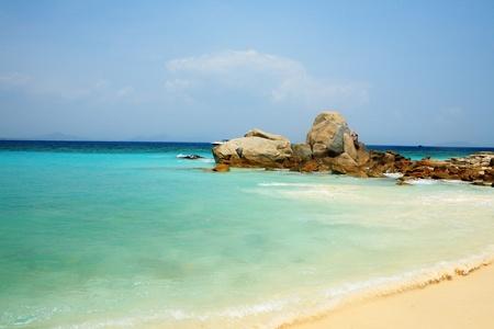 and sanya: Wave on beach in Sanya