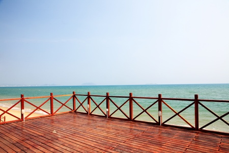 tropical balcony with sea view  Stock Photo - 13466107