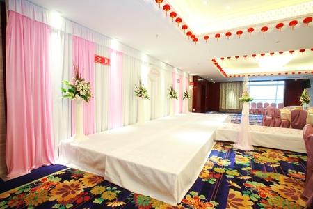 Romantic wedding scene and stage
