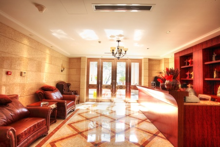 structure and the furnishings within the Chinese classical hotel Stock Photo - 13491791