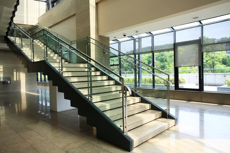 Modern stairs in a building