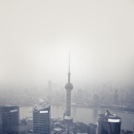 megapolis: View of lujiazhui in shanghai