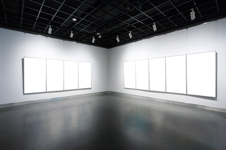 empty frames in a room against a white wall Stock Photo - 13497841
