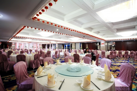 wedding party: an image of Table setting at a luxury wedding reception