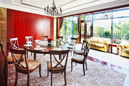 structure and the furnishings within the Chinese classical hotel Stock Photo - 13491708