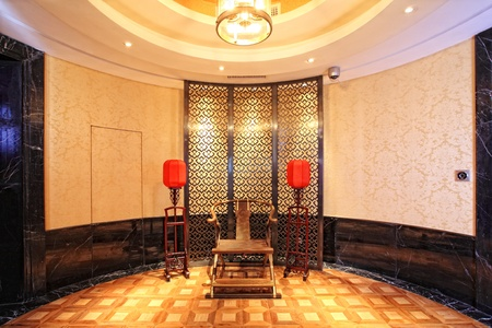 structure and the furnishings within the Chinese classical hotel Stock Photo - 13491733