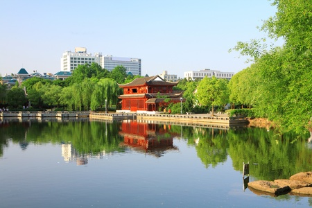pavilions on a river, Chinese architecture   photo
