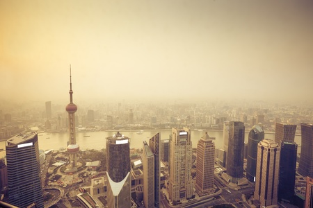 overview of modern building shanghai
