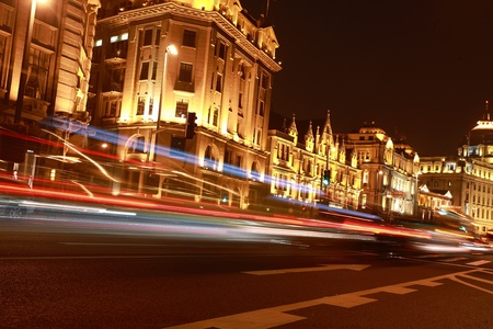 Night shot of city luxury buildings and roads Stock Photo - 13491466