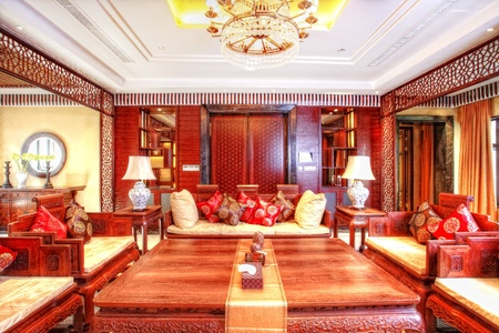structure and the furnishings within the Chinese classical hotel