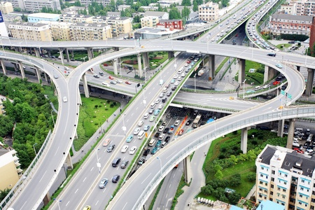 overpass and a lot of cars in Hangzhou Stock Photo - 13491474