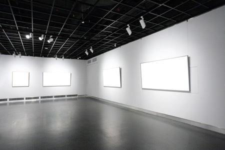 empty frames in a room against a white wall Stock Photo - 13495910