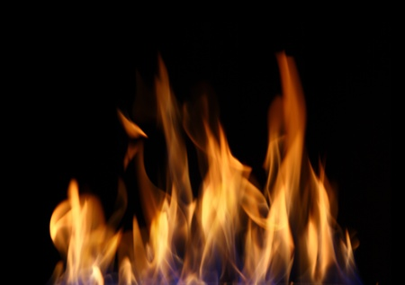 Burning fire, may be used as background  photo