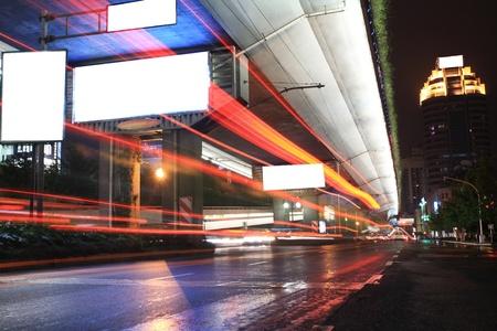 Urban night traffics view. Focus on the road. Stock Photo - 13540619