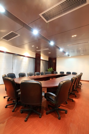 institutions: the closeup of Modern city meeting room Editorial